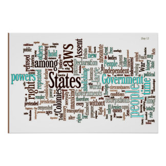 Declaration of Independence Word Cloud Print