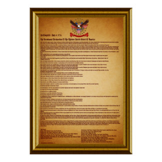 Declaration of IndependenceV-1-Style-2 Poster