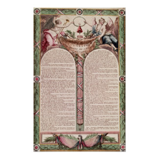 Declaration of the Rights of Man, 1793 Poster