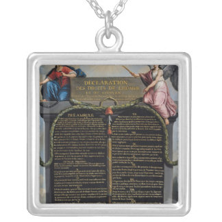 Declaration of the Rights of Man and Citizen Silver Plated Necklace