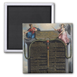 Declaration of the Rights of Man and Citizen Square Magnet