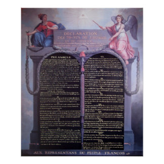 Declaration of the Rights of Man Poster