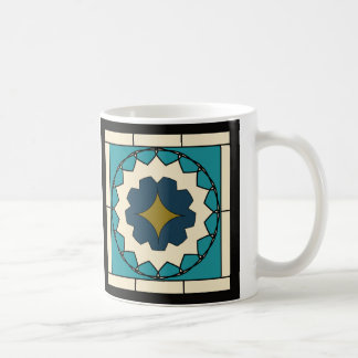 Deco Blue Tile Design Coffee Mug