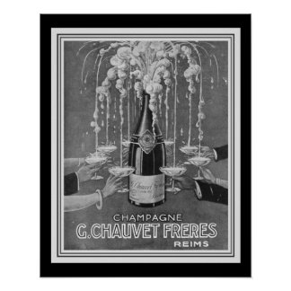 Deco Chauvet Freres Champagne Ad 16 x 20 Poster