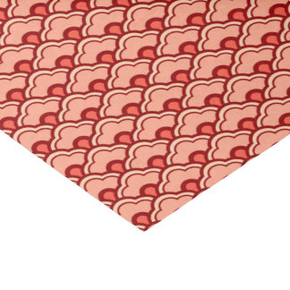 Deco Chinese Scallops, Peach, Rust and Cream Tissue Paper