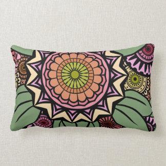 DECO FANDANGO in Peach, Pink and Green Lumbar Pillow