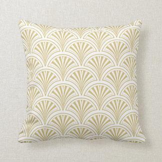 Deco Fans Vintage Pattern Throw Pillow