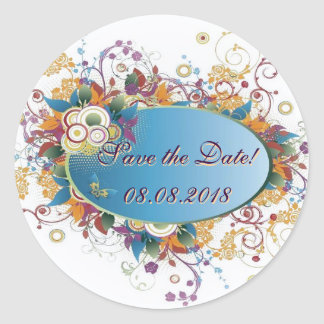 Deco floral ~ Save the date  Sticker