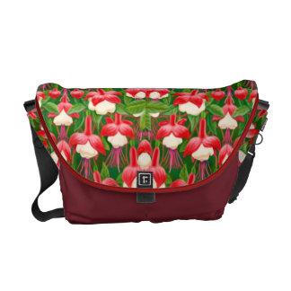 Deco Fuschia Floral Rickshaw Messenger Bag