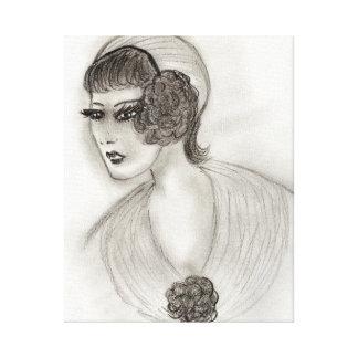 Deco Girl IV Canvas Print
