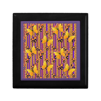 Deco Gold Butterflies Purple Art Gift Box