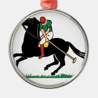 Deco Horse Polo Metal Ornament