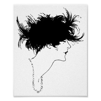 Deco Lady Canvas Art Print