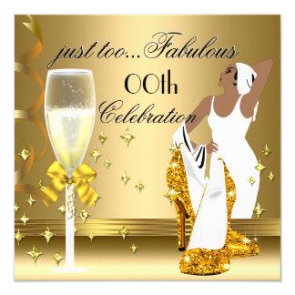Deco Lady Gold Too Fabulous Birthday 13 Cm X 13 Cm Square Invitation Card