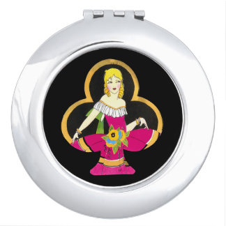Deco lucky lady clubs vintage image travel mirrors