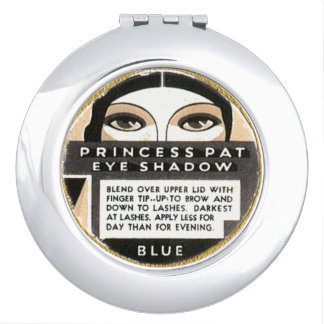 Deco make up label vintage image vanity mirror