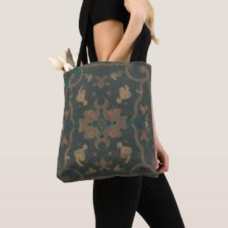 Deco Modern Distressed Boho Pattern Muted Colors Tote Bag