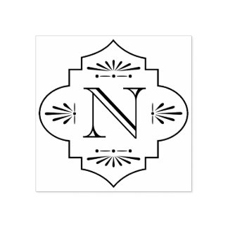 Deco Monogram | Rubber Stamp
