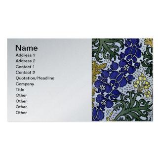 Deco Nouveau Border Flowers Business Cards