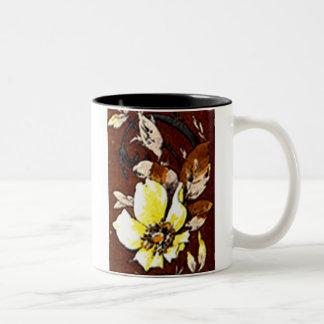 Deco Nouveau Flowers and Lace Coffee Mugs