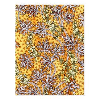 Deco Nouveau Flowers and Lace Postcard