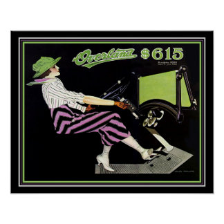 """Deco """"Overland"""" Roadster Ad- Coles Phillips 16x20 Poster"""