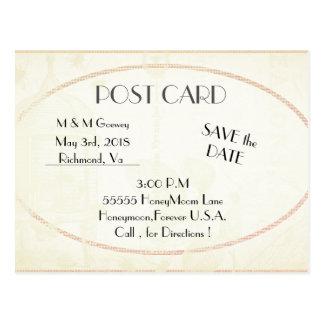 Deco-Plain-Cream-Template Postcard