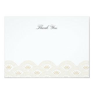 Deco Seigaiha Flat Thank You Note Card 11 Cm X 16 Cm Invitation Card