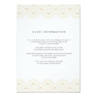 Deco Seigaiha Wedding Insert Card 11 Cm X 16 Cm Invitation Card