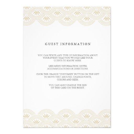Deco Seigaiha Wedding Insert Card