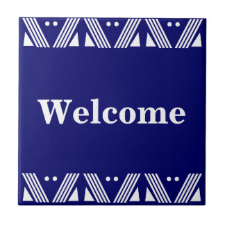 Deco Welcome Sign Tile