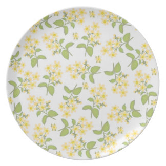 Deco Yellow Wildflowers Plate
