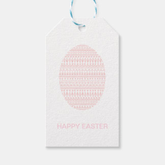 Decor Egg Easter Gift Tag - Pink