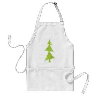 decor green tree adult apron