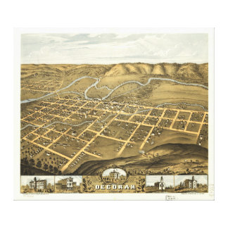 Decorah, Winneshiek County, Iowa (1870) Canvas Print