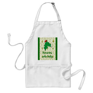 Decorate with Holly Standard Apron