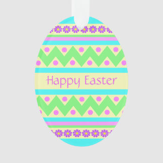 Decorated Acrylic Easter Egg Ornament