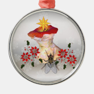 Decorated Apple Core Metal Ornament