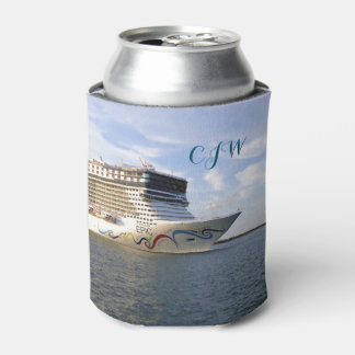 Decorated Bow Monogrammed Can Cooler