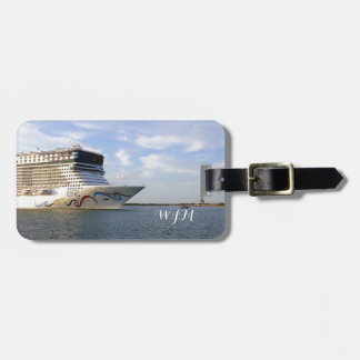 Decorated Bow Monogrammed Personalized Luggage Tag