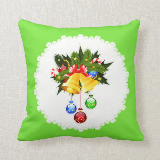 Decorated Christmas Bells Pillow