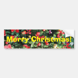 Decorated Christmas Tree Bumper Stickers