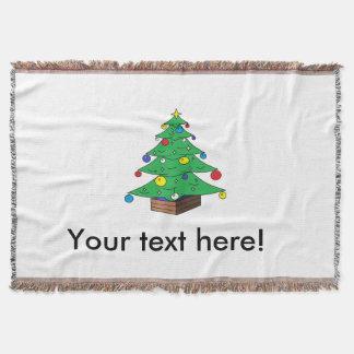 Decorated Christmas tree cartoon