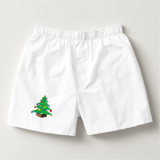 Decorated Christmas tree cartoon Boxers