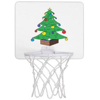 Decorated Christmas tree cartoon Mini Basketball Hoop