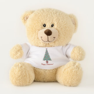 decorated christmas tree contempory festive teddy bear