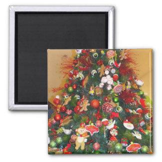 Decorated Christmas Tree Refrigerator Magnets