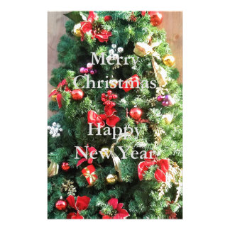 Decorated Christmas Tree Stationery Paper