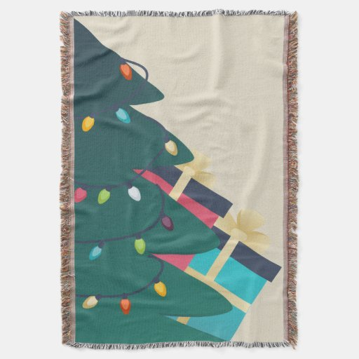 Decorated Christmas tree Throw Blanket