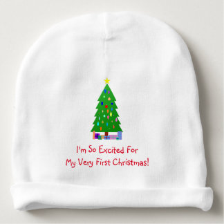 Decorated Christmas Trees & Christmas Presents Baby Beanie